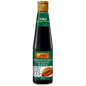 Lee Kum Kee Gekruide sojasaus voor zeevruchten 410ml (李錦記蒸魚豉油)