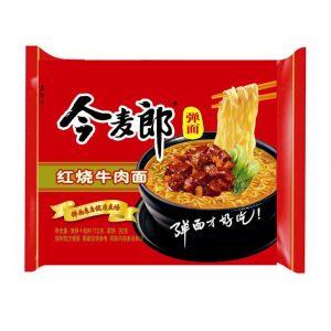 Jinmailang Noedels gestoofde rundvlees smaak (今麥郎 紅燒牛肉碗麵)