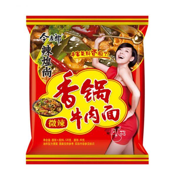Jinmailang Noedels hotpot/pittige rundvlees smaak (今麥郎 辣煌尚牛肉麵)