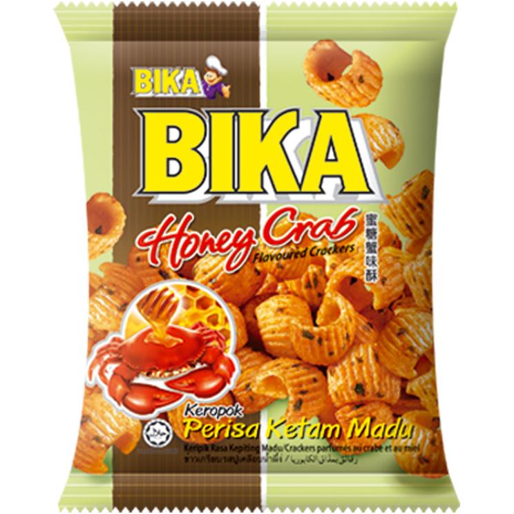 Crackers met kunstmatige honing krab smaak