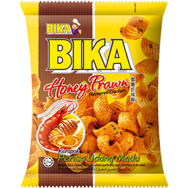 Crackers met honing garnaal smaak