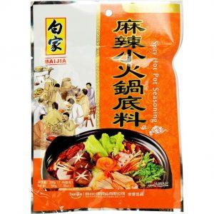 Bai Jia Pikante hot pot kruiden (白家 麻辣小火锅底料)
