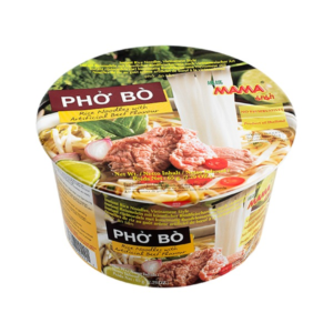 Mama Bowl platte rijstnoedels rundvlees smaak