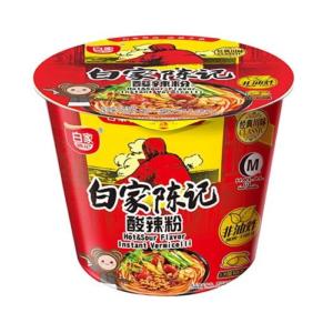 Bai Jia Bowl vermicelli pikant/zuur aroma (白家 碗装红薯粉丝-酸辣粉)