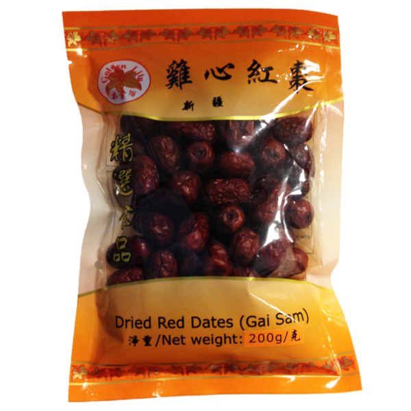 Golden Lily Dried red dates gai sam (雞心紅棗)