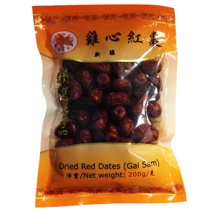 Dried red dates gai sam (雞心紅棗)