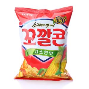 Lotte Koreaanse cracker met geroosterde maïs smaak