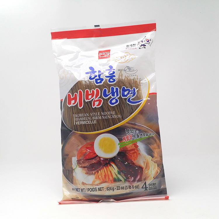 Koude boekweit noedels met hete saus (hamheung bibim naengmyeon)