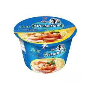 Unif  Bowl noodle - shrimp fish flavor (统一来一桶鲜虾鱼板面)