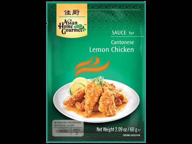 Citroensaus voor Kantonese lemon chicken (kip in citroensaus)