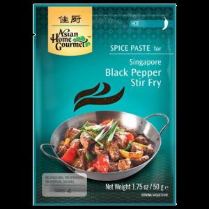 Asian Home Gourmet Kruidenpasta voor Singaporees roerbakgerecht met zwarte peper