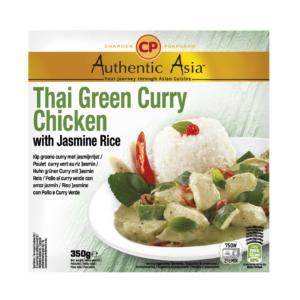 Authentic Asia Groene curry kip met jasmijn rijst