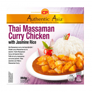 Authentic Asia Massaman curry kip met jasmijn rijst (泰国即吃马沙文咖哩鸡饭)