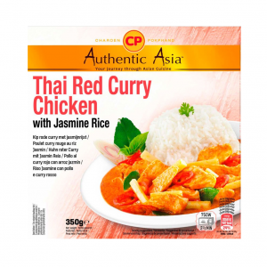 Authentic Asia Thai red curry chicken with jasmine rice (泰国即吃红咖哩鸡饭)