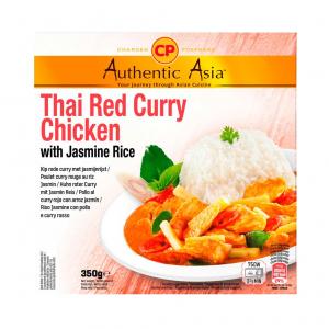 Authentic Asia Thai red curry chicken with jasmine rice (泰国即吃红咖哩鸡饭)