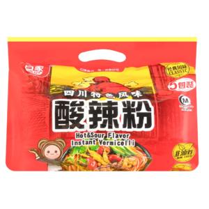 Bai Jia Vermicelli pikant en zuur multipack (白家陈记 酸辣粉)