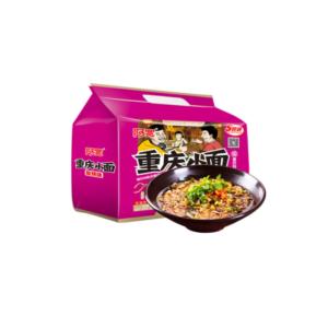 Bai Jia  Chongqing noodles hot & sour flavour multipack ((五联包)白家 阿宽 重庆小面 酸辣味 110X5g)