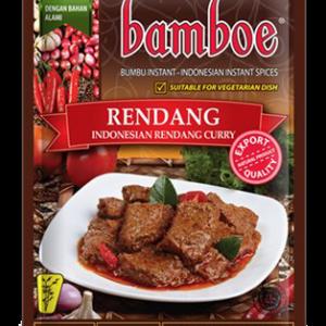 Bamboe Kant-en-klare kruiden voor Indonesische rendang curry (rendang)