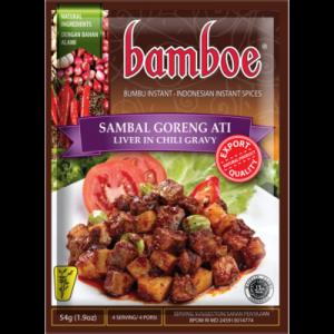 Bamboe Kant-en-klare kruiden voor lever in chili jus (sambal goreng ati)