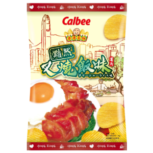 Calbee Aardappel chips met cha siu smaak