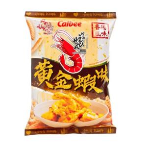 Calbee Garnalen chips met gezouten eieren smaak