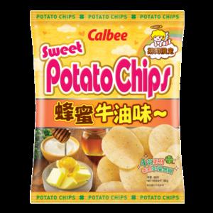 Calbee Sweet potato chips honey butter flavour