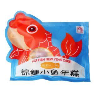Chang Li Sheng Koi vis gevormde rijstcake (錦鯉小魚年糕)