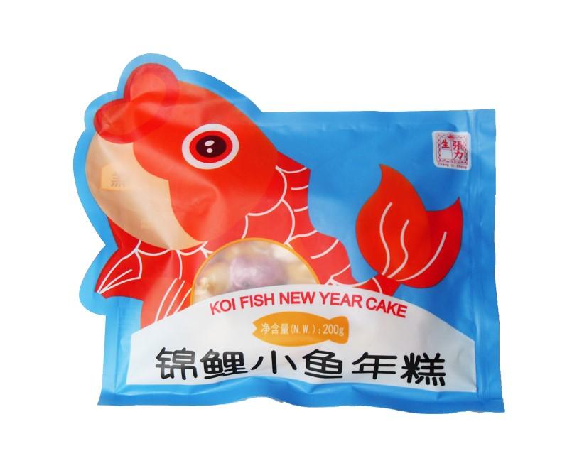 Koi vis gevormde rijstcake (錦鯉小魚年糕)