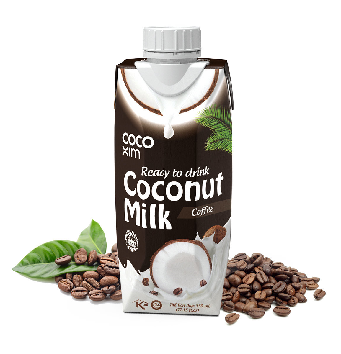 Coconut milk drink with coffee flavour