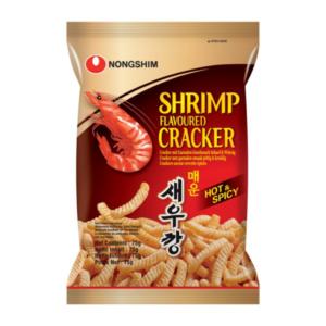 Nongshim Cracker met pittige en kruidige garnalen smaak
