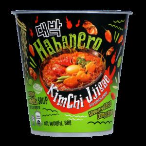Daebak Cup noodle habanero kimchi jjigae flavour
