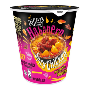 Daebak Cup noodle habanero spicy chicken flavour