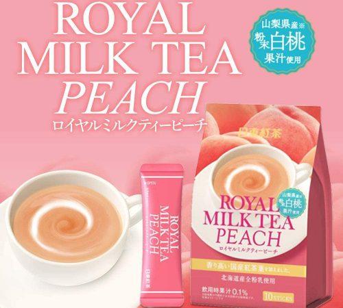 royal milk tea peach banner