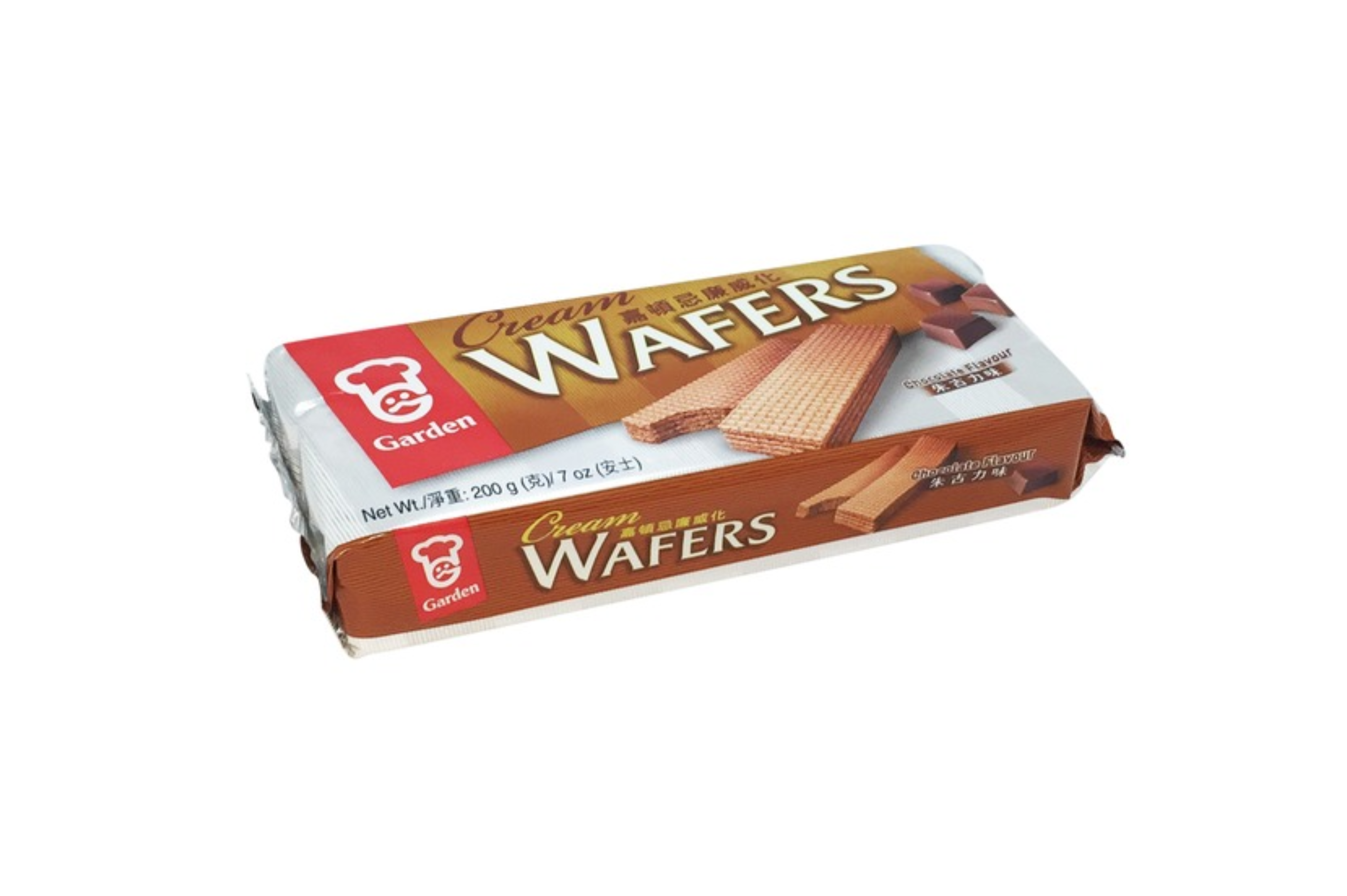 Cream wafers chocolate flavour