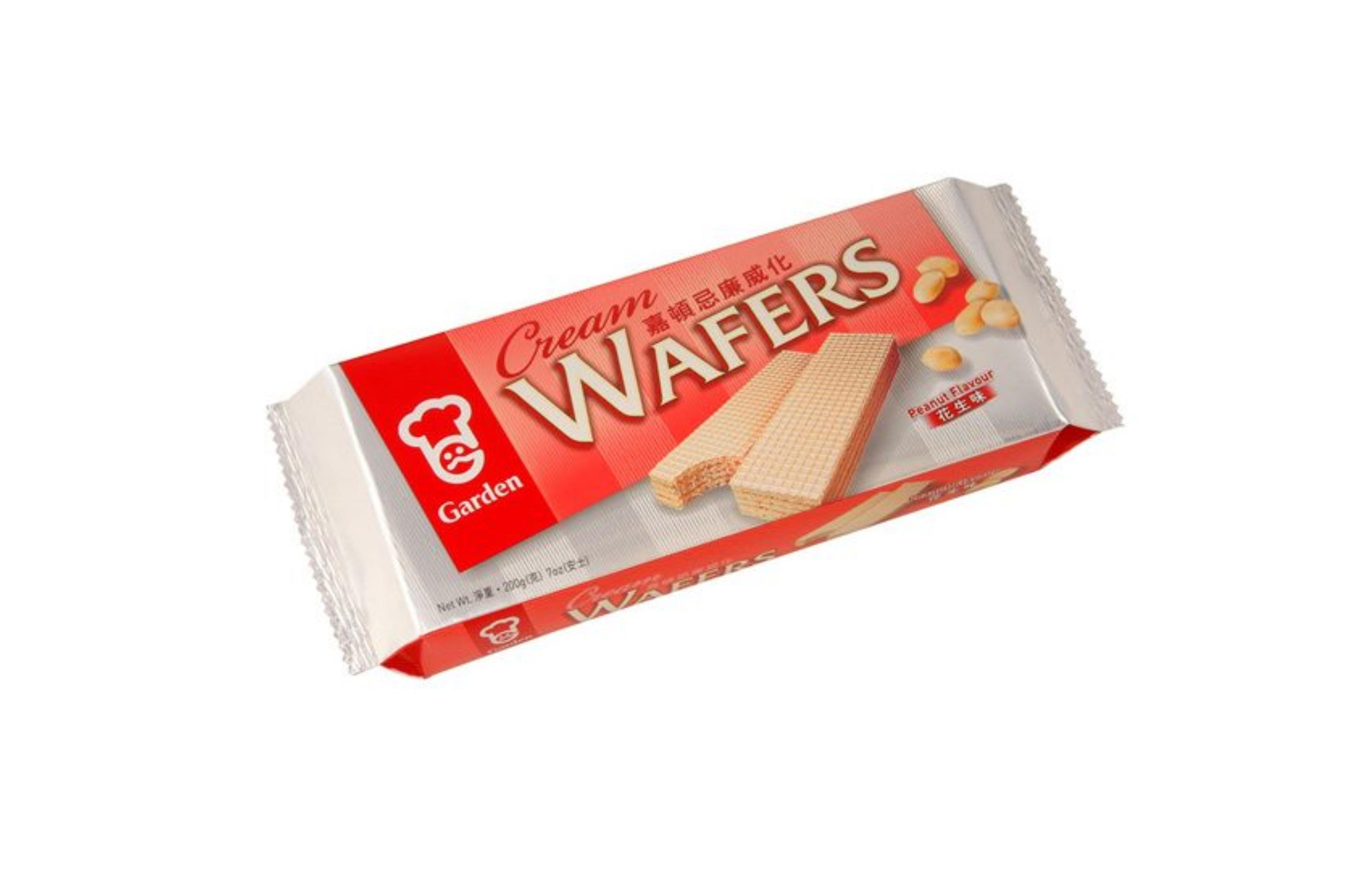 Cream wafers peanut flavour