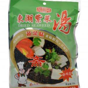 Gedroogde zeewier voor soep