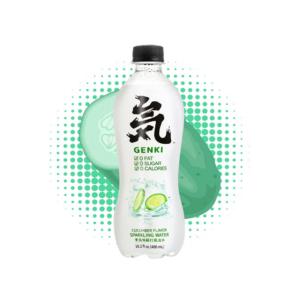 Genki Forest  Sparkling water cucumber flavor