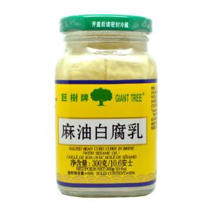 Giant Tree Tofu met sesamolie (巨树牌 麻油白腐乳)