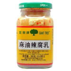 Giant Tree Gefermenteerde tofu met chili (巨树牌 麻油辣腐乳)