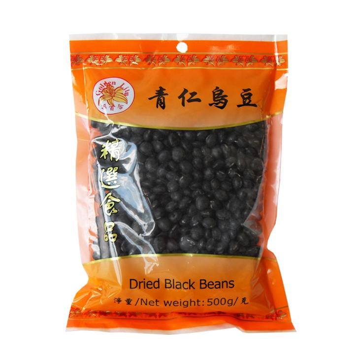 Gedroogde zwarte bonen