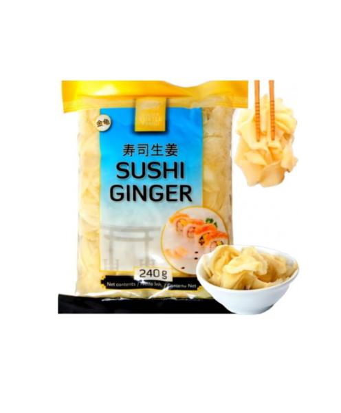 Golden Turtle Brand  Sushi ginger white
