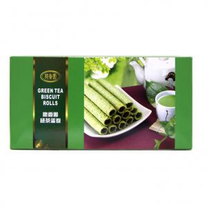 Crispy Fragrance Garden Green tea biscuit rolls
