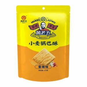 Huang Lao Wu Wheat crust spicy flavor (黄老五 小麦锅巴酥 香辣味)