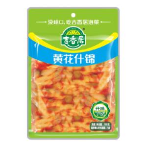Ji Xiang Ju Scherpe groenten met lelies bloemen (吉香居 黄花什锦)