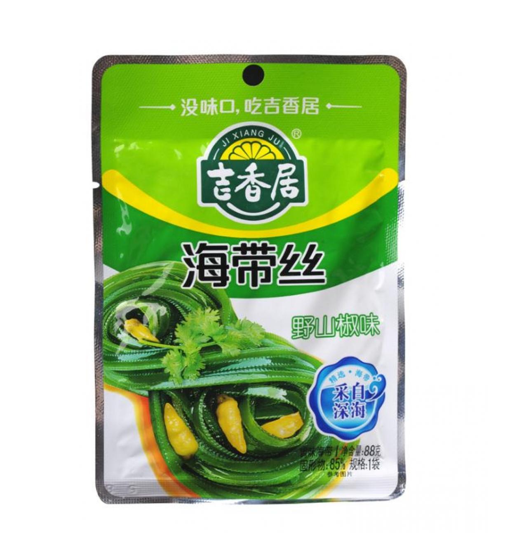 Seaweed with chili pepper (吉香居 海带丝 野山椒味)