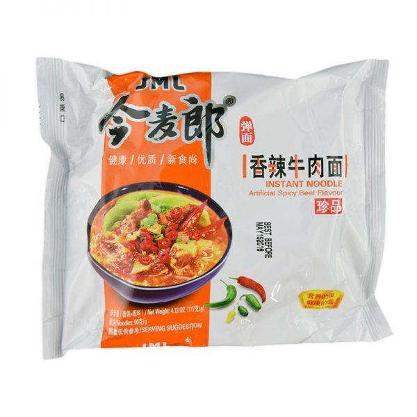 Jinmailang Noedels pittige rundvlees smaak (今麥郎香辣牛肉麵)