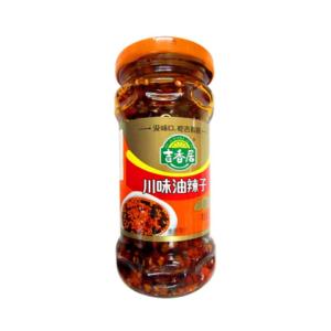 Ji xiang ju Sichuanese chilli olie met pinda