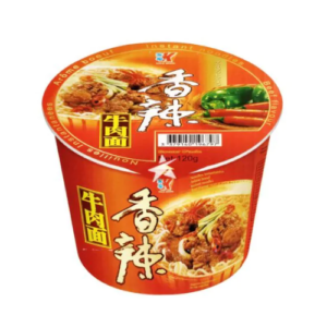 Kailo Brand Bowl noodle spicy beef flavor (家乐香辣牛肉面 (桶))