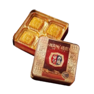 Hong Kong King 香港帝皇 雙黃白蓮蓉月餅 mooncake witte lotuspasta met 2 eigeel