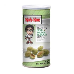 Koh-Kae Peanuts nori wasabi flavour coated (240g)